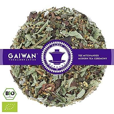 """N° 1210: Thé aux herbes bio """"Herbes des alpes"""" - feuilles de thé issu de l'agriculture biologique - GAIWAN® GERMANY - sureau, mélisse citronnée, cacao, menthe poivrée, sauge, réglisse"""