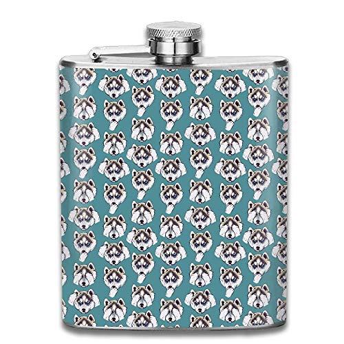 Gxdchfj Husky Head Women Drinks Flask Bottle