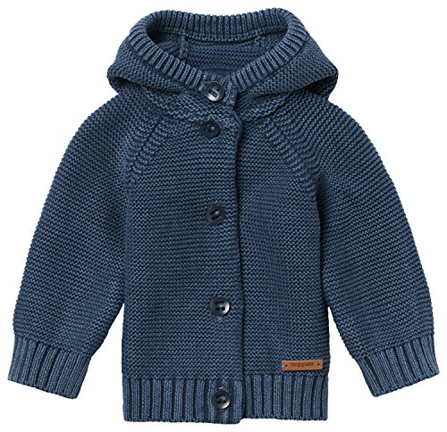 Noppies Baby-Jungen Strickjacke B Cardigan Knit Brooklyn, Blau (Indigo Blue C146), 62