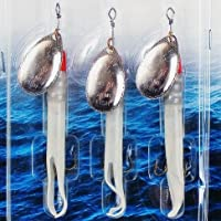 Fladen 3x 15g Flying C Spinning señuelos de pesca Set–Ideal para salmón y el mar Bass Verde Silver Lumi