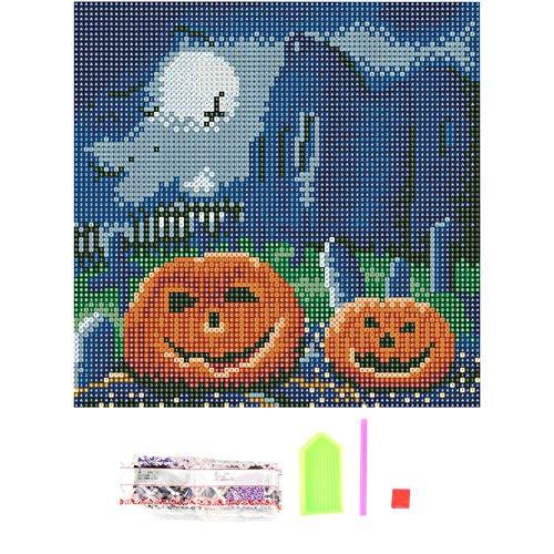 Somedays DIY 5D Diamant Painting Halloween Thema Familie Dekorative Malerei Voller Diamanten Wanddekoration 30 * 30 cm
