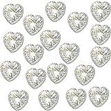 80x selbstklebende Herzen klar Acryl Kristalle ca. 1,2cm hoch Qualität ideal für Karte machen, Handwerk, Hochzeit Einladungen