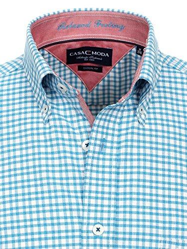 CASAMODA Messieurs Chemise d'affaires 006290 manches longues Coupe classique Turquoise