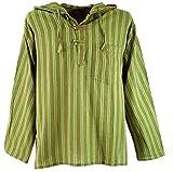 Guru-Shop Nepal Hemd, Goa Hippie Sweatshirt - Grün, Herren, Baumwolle, Size:48, Sweatshirts & Hoodies Alternative Bekleidung