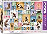 Eurographics 15.240–2.420,6cm Yoga-Katzen Puzzle (1000Teile)