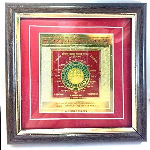 Deve hierbas Kkripa Deve Sri Vastu Dosha (sin Marco) Nivaran Yantra oro