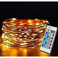 led string lichtlichterketten mit fernbedienung 33ft100 leds string lightswasserdichte - Romantische Schlafzimmer Beleuchtung