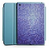 Apple iPad Mini 4 Smart Case hellblau Hülle Tasche mit Ständer Smart Cover Mosaik Stones Steine
