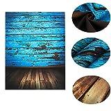 Mohoo 1,5x 2,1m fotografia sfondo pavimenti in legno vintage blu foto fondali studio puntelli vinile - Mohoo - amazon.it