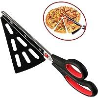flintronic Acciaio Inox Pizza Scissors  Forbici Taglia con Base  Forbice Taglia Pizza  Sostituire Pizza Cutter  Multifunzionale  Tagliare Il Barbecue  xFF08 Rosso  xFF09
