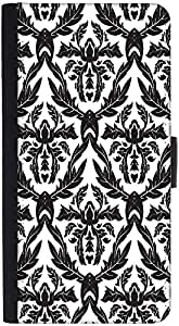 Snoogg Black Leaves Pattern Designer Protective Phone Flip Back Case Cover For Lenovo Vibe K4 Note
