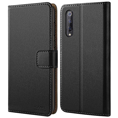 HOOMIL Cover per Xiaomi Mi 9, Flip Case in Pelle PU Premium Custodia per Xiaomi Mi 9 Smartphone - Nero