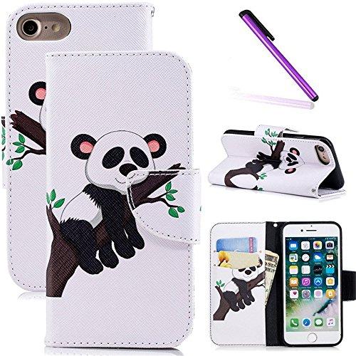 484957e4c47 COTDINFOR iPhone 6S Funda Precioso Animales Impresión Patrón Suave PU Cuero Cierre  Magnético Billetera con Tapa