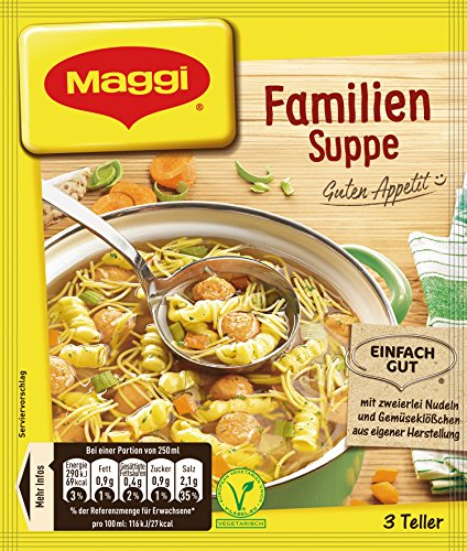Maggi Guten Appetit Suppe Familien, 18er Pack (18 x 60 g)