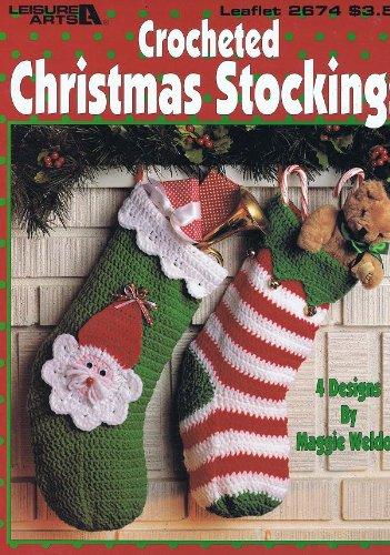 Weihnachtsstrumpf Häkelmuster Booklet-4Designs -