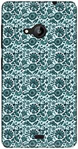 The Racoon Lean printed designer hard back mobile phone case cover for Microsoft Lumia 535. (flower mea)