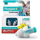 Alpine Pluggies Bouchons d'oreilles : protections auditives pour enfants et petits conduits auditifs - Bouchons étanches adap