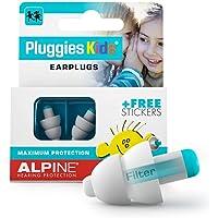 Alpine Pluggies Kinder Gehörschutz Ohrstöpsel - Ohrenstöpsel Für Kind und kleine Gehörgänge - Zum Fliegen und Schwimmen…