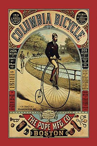 Columbia Bicycle reklame fahrrad metal sign, retro, schild aus blech (Vintage Fahrrad Kennzeichen)