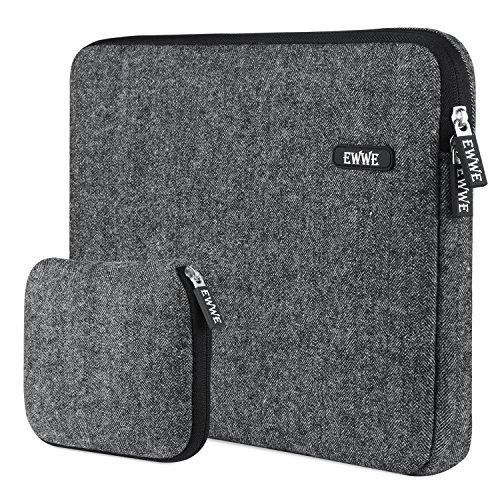 EWWE 360° Schutz Laptop Hülle Tasche für 13 Zoll Neu MacBook Pro A1706 A1708, Dell XPS 13, Wasserresistente and Stoßfest Neopren mit Kleiner Aufbewahrungsbeutel, Schwarz