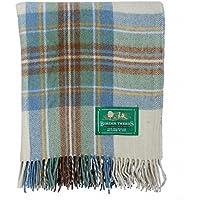 Palette Von Neu Bnwt Schottische Überwurf Groß Wolle Tartan Teppich Home & Garden