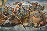 Póster 90 x 60 cm: King Olaf, C994 A.d. de Hugo Vogel/Granger Collection - impresión artística, Nuevo póster artístico