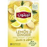 Lipton Herbal Infusion Tea Lemon & Ginger, 20 Teabags