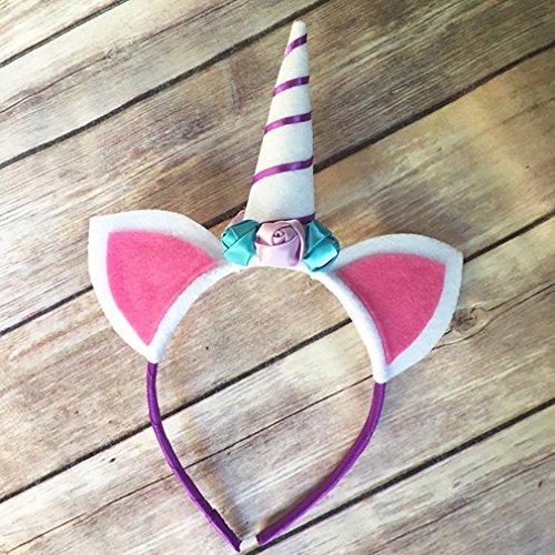LnLyin Einhorn Hairband Hoop Prinzessin Unisex Party Stirnband Weihnachten Halloween Karneval Kopfschmuck (Kostüme Hoop)