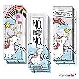 3 x 4 Einhorn-Lesezeichen (12er Set) I dv_252 I 3 Motive für Kinder I Einschulung Schulanfang Schultüte Schulstart I Buch Kapitel Leseratte