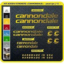 Adesivi Bici CANNONDALE Kit adesivi stickers 12 Pezzi -SCEGLI SUBITO COLORE- bike cycle pegatina Cod.0089 (Oro cod. 091)