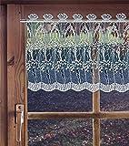 Scheibengardine aus Plauener Spitze, Spitzengardine ZIERLAUCH Höhe: 30 cm / 45 cm in unterschiedlichen Breiten