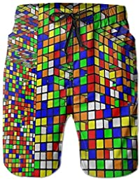 Nice Rubik's Cube World Men's Swimwear Beach Short Gym Home Pants Sports Yoga Sweatpants