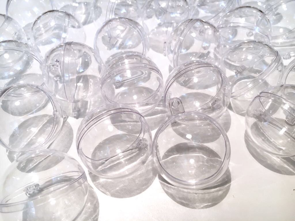 CRYSTAL-KING-30-Stck-Acrylkugeln-4cm-Durchmesser-durchsichtige-Kugel-Aufhngen-transparent-Dekokugel-Bastel-Set-Christbaumkugeln-Acrylkugel-Teilbar-befllbare