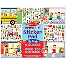 Melissa & Doug Reusable Sticker Pad - My Town: Activity Books - Coloring/Painting/Stickers,Multi Color