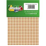 1160 Klebepunkte, 5 mm, orange, aus PVC Folie, wetterfest, Markierungspunkte Kreise Punkte Aufkleber