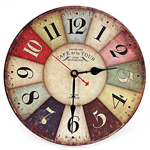 coquimbo-round-wall-clock-wood-12-inch-vintage-colorful-france-paris-country-tuscan-style-arabic-num
