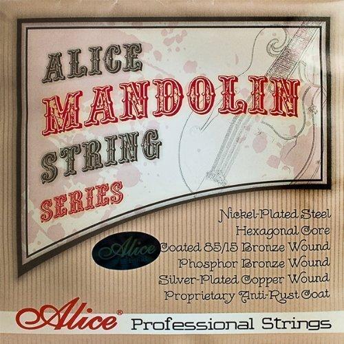 Alice - Mandoline Saitensatz, medium, bronze, loop end, 11s Loop End-e-saite