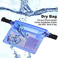 Waterproof Pouch Dry Bag Case with Waist Strap for Beach, Swim, Boating, Kayaking, Hiking