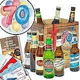 70. Geburtstagsgeschenk | Bierbox mit Bier der Welt