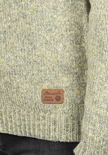 BLEND SHE Khola Damen Strickpullover Turtleneck Feinstrick Pulli mit Stehkragen aus hochwertigem und weichem Material Meliert Deep Lich Melange