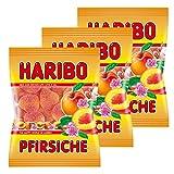 Haribo Pfirsiche, 3er Pack, Gummibärchen, Weingummi, Fruchtgummi, Im Beutel, Tüte