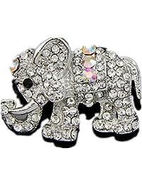0e2562566876 Xuxuou 1 Unids Mujeres Elegantes Elegantes Diamante-Tachonado Elefante  Broche Banquet Party Boda Nupcial Broche