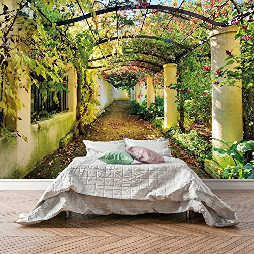 Liebe Pflanzen Muss (FOTOTAPETE ,,Wedding Time 106' 366 x 254cm Blumen Hochzeit Garten Pflanzen Wintergarten Pergola Romantik Liebe Tapete inklusiv Kleister)