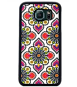 PrintDhaba Floral Design D-2045 Back Case Cover for SAMSUNG GALAXY S6 (Multi-Coloured)