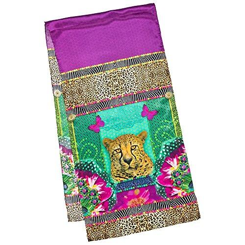 VON LILIENFELD Seidenschal Damen Satin lang Motiv Kunst Raubkatze Gepard Eva Maria Nitsche: Longing - Damen Pink Panther Kostüm