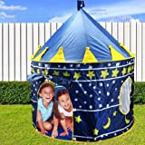 #2: PIGLOO®Kids Play Tent Indoor Outdoor - for Boys Girls Baby Toddler Playhouse Prince House Castle Blue Foldable Tents with Carry Case