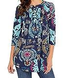 FAMILIZO Camisas Mujer Largas Camisetas Mujer Verano Tops Mujer Primavera Camisetas Mujer Largas Camisetas Mujer Manga Larga Algodon Tallas Grandes Mujer Fiesta Blusas Mujer Fiesta (2XL, Cielo Azul)