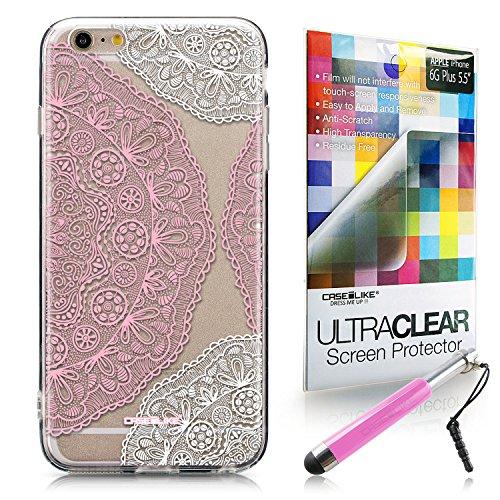 CASEiLIKE Art Mandala 2093 Housse Étui UltraSlim Bumper et Back for Apple iPhone 6 / 6S Plus (5.5 inch) +Protecteur d'écran+Stylets rétractables (couleur aléatoire) 2305