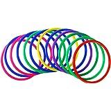 TOYMYTOY 12PCS Toss Rings Spiele Verschiedene Farben