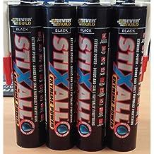 12 x Blanco Stixall De Everbuild MS Polímero Asa Adhesivo Sellador - 290 ml